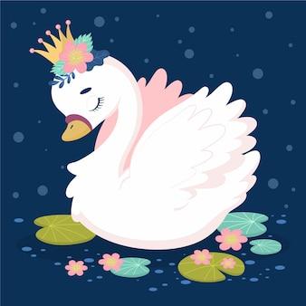 Лебедь принцесса иллюстрация