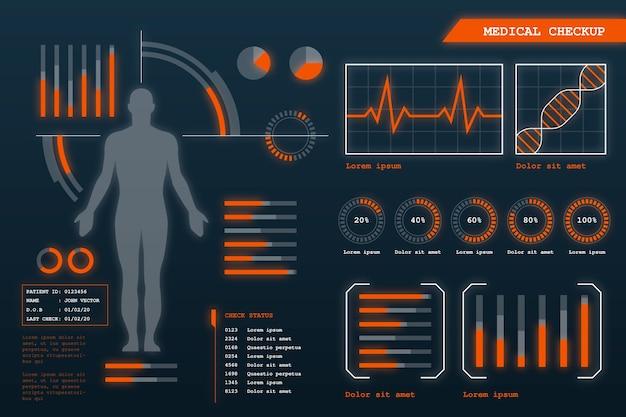 Футуристическая медицинская инфографика