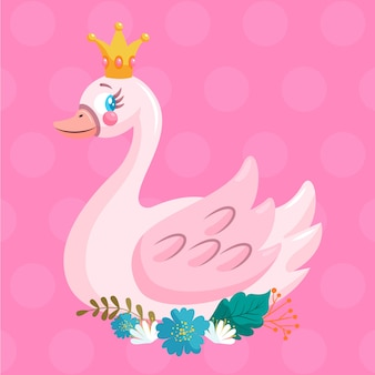 Лебединая принцесса с короной