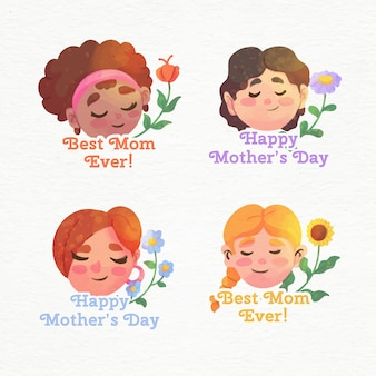 母の日ラベルコレクション