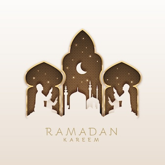 Рамадан праздник плоский дизайн