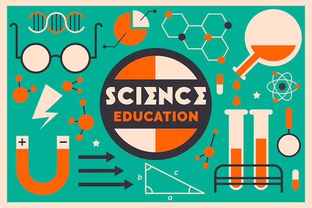 Винтажный стиль науки образования фон