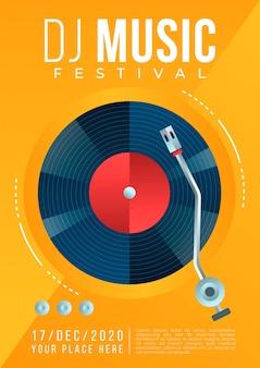 Музыкальный плакат иллюстрированный концепт