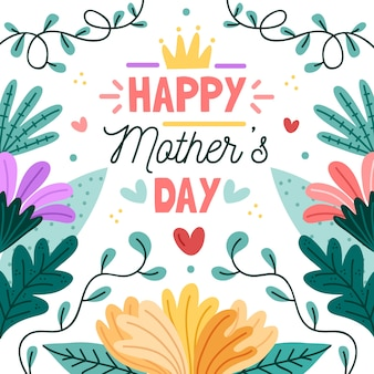 День матери цветочные концепции события