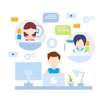 Дистанционная онлайн-концепция