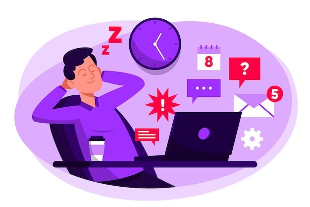 Отложено понятие сонный человек