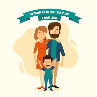 一緒にいる幸せな家族のイラスト