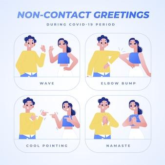非接触挨拶表現のセット