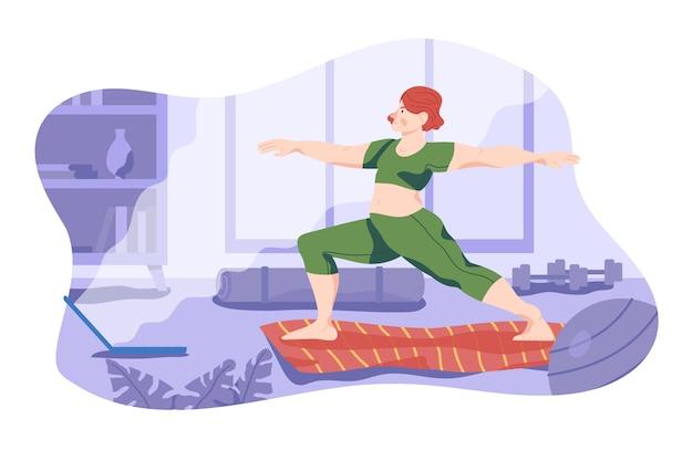 Растяжка и занятия спортом в помещении