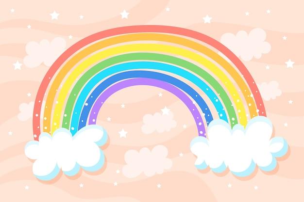 Ручной обращается концепция радуги
