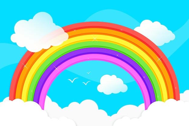 Плоский дизайн радуги