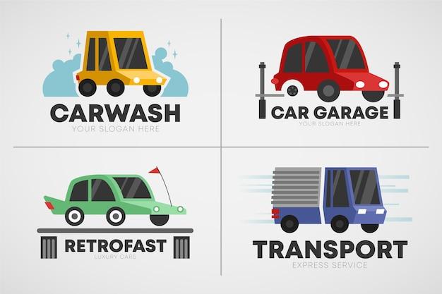 Плоская коллекция логотипов автомобилей