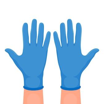 保護手袋のイラスト