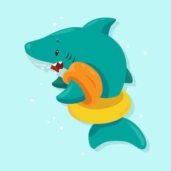 Плоский дизайн детская акула