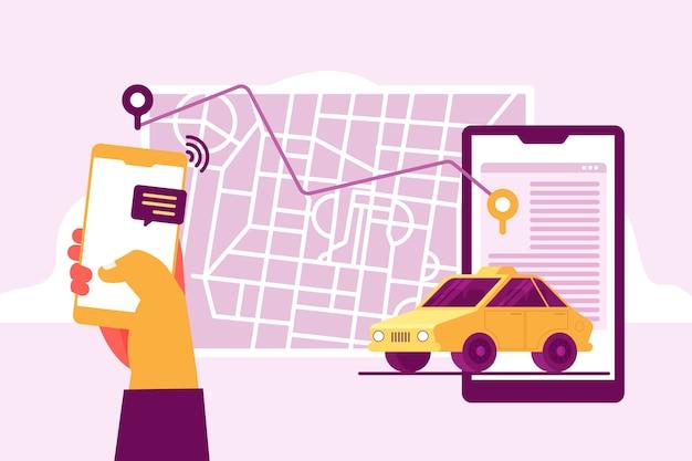 Транспортная служба такси дизайн приложения