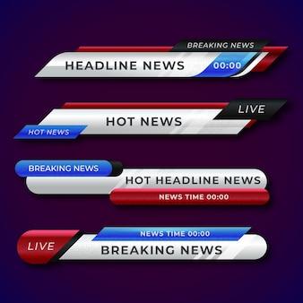 Коллекция баннеров последних новостей