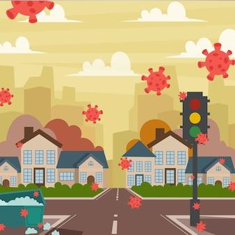 Иллюстрация пустой город