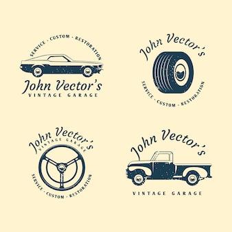ヴィンテージカーのロゴコレクション