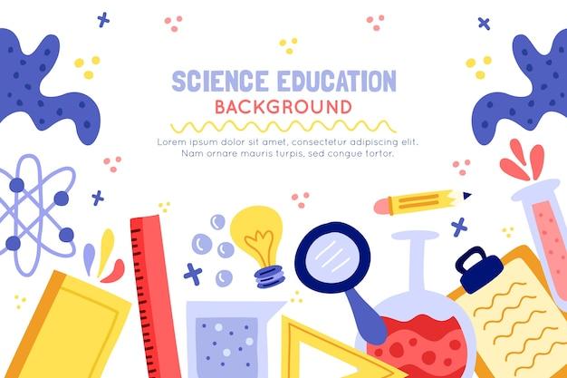 Нарисованная рукой красочная предпосылка образования науки