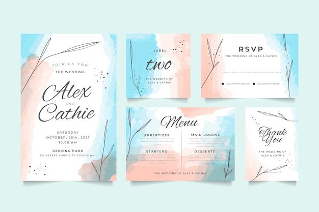 結婚式の文房具デザイン
