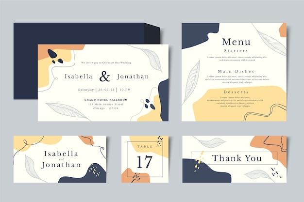 結婚式の文房具スタイル