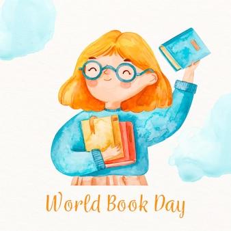 水彩画の世界の本の日