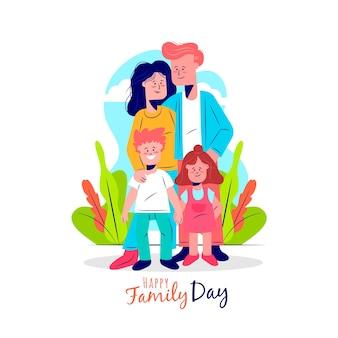 家族のフラットデザイン国際デー