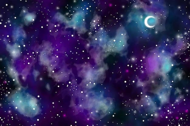 Акварель темное небо фон