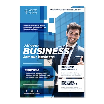 Бизнес шаблон с фото