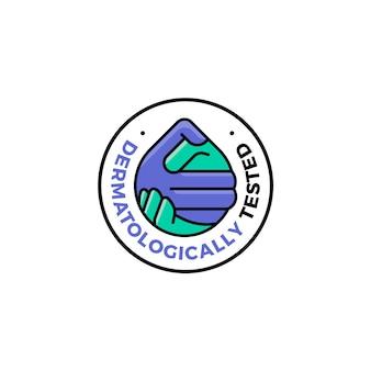 Дерматологически протестированный логотип