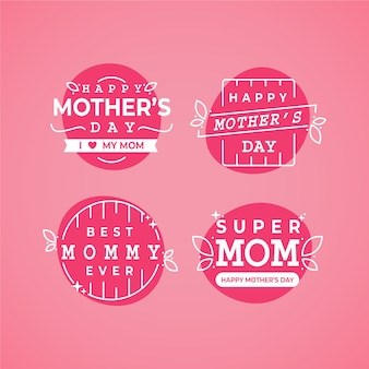 Плоский ярлык на день матери