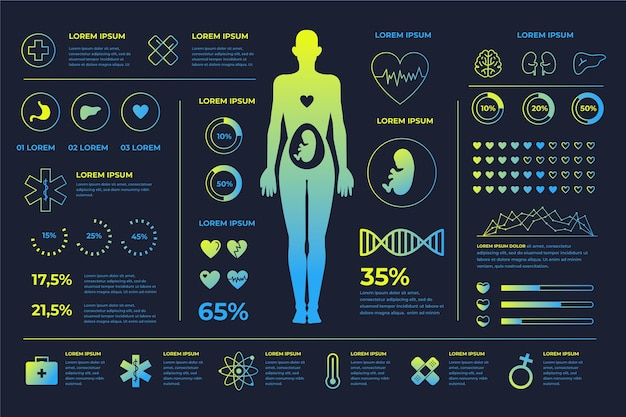 医療インフォグラフィックスタイル