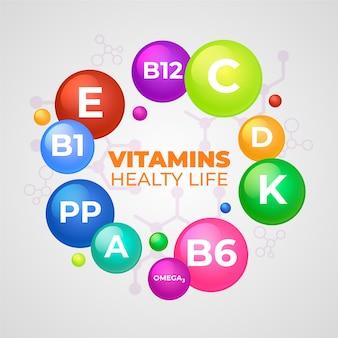 必須ビタミンとミネラルの複合体