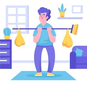Быть творческим при выполнении физических упражнений