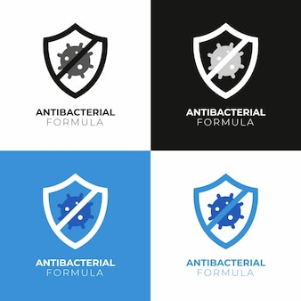 Антибактериальная концепция логотипа