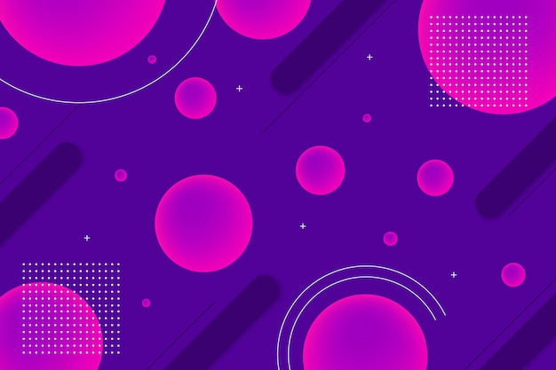 Круглые геометрические фигуры фон с элементами мемфиса