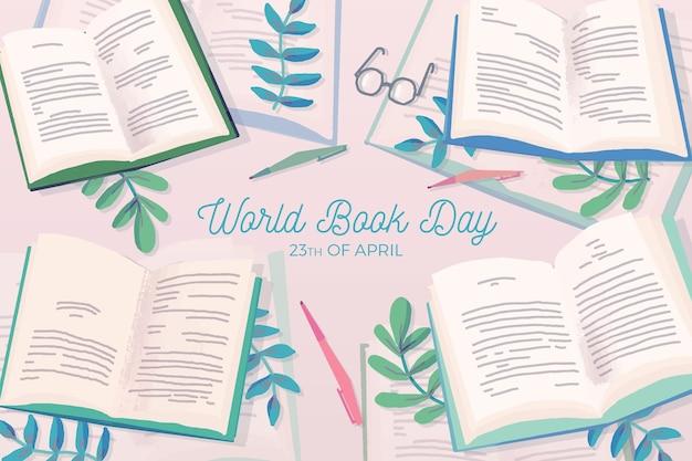Нарисованная рукой концепция дня книжного мира