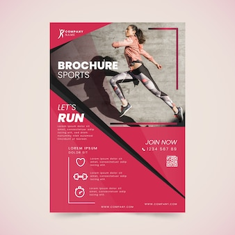 Спортивный постер в стиле бега
