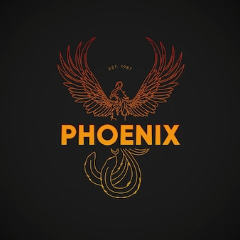 Красочная концепция логотипа феникс