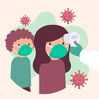 Проверка температуры тела в общественных местах