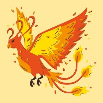 Ручной обращается дизайн птица феникс