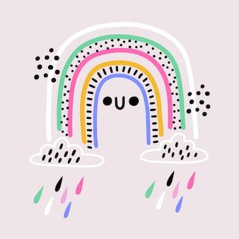 手描きの虹