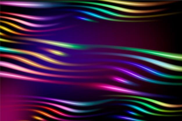 ネオンの光と抽象的な背景