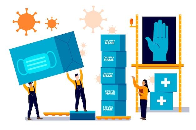 Новый запас хирурга маскирует концепцию гуманитарной помощи