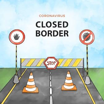 Коронавирусная конструкция закрытия границы
