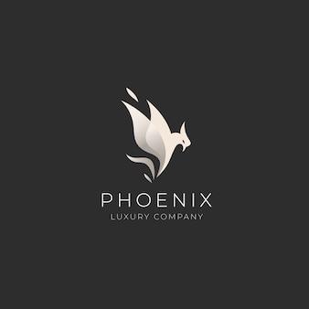 Шаблон логотипа феникс