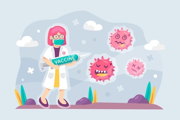 Бороться с вирусом дизайн