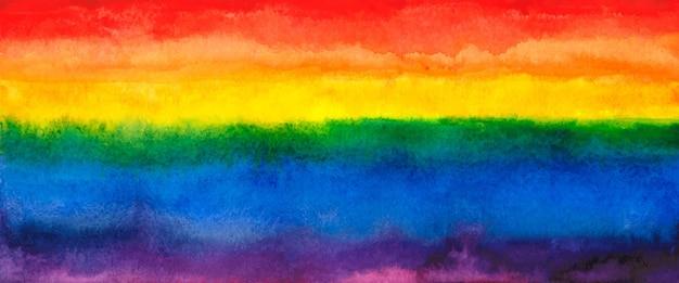 Акварель абстрактная яркая радуга