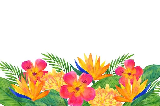 水彩画の花の背景のコンセプト