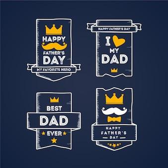 Рисунок коллекции этикеток день отца